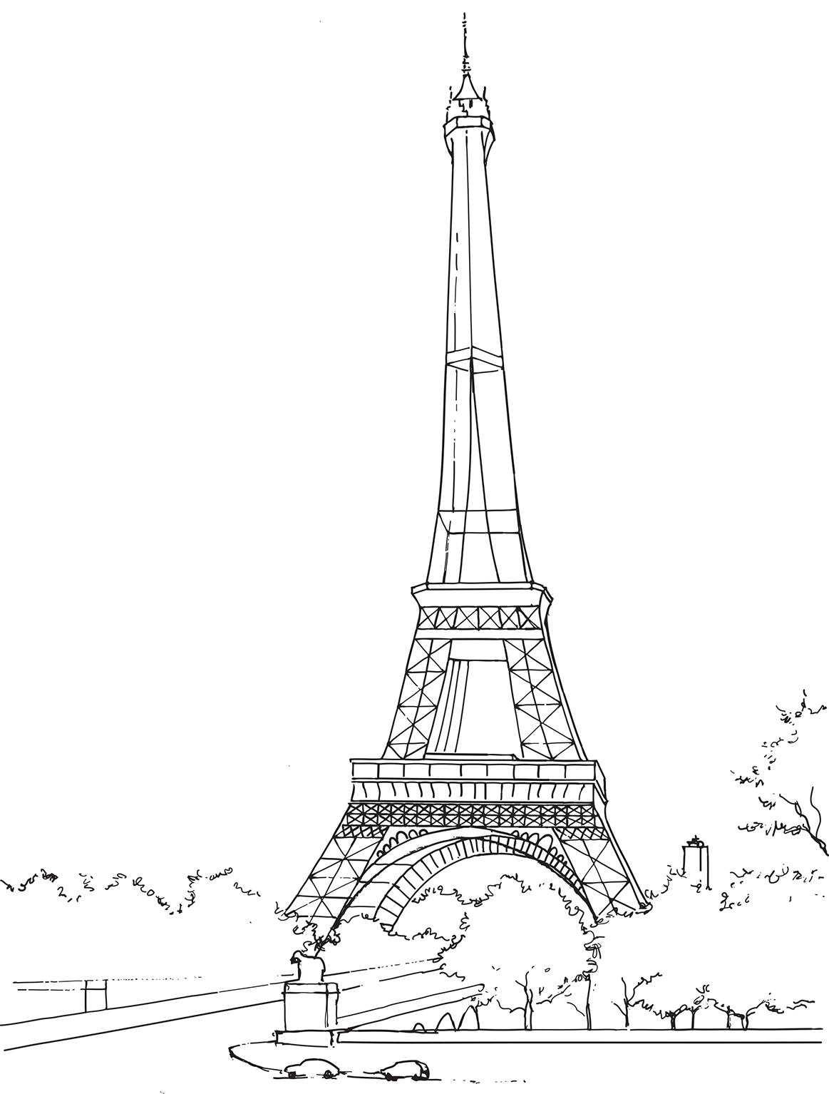 Coloriage A Imprimer Tour Eiffel.Coloriage De Paris Et Ses Merveilles La Tour Eiffel